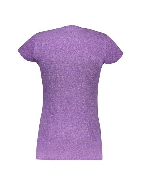 تی شرت یقه گرد زنانه - بنفش - 2