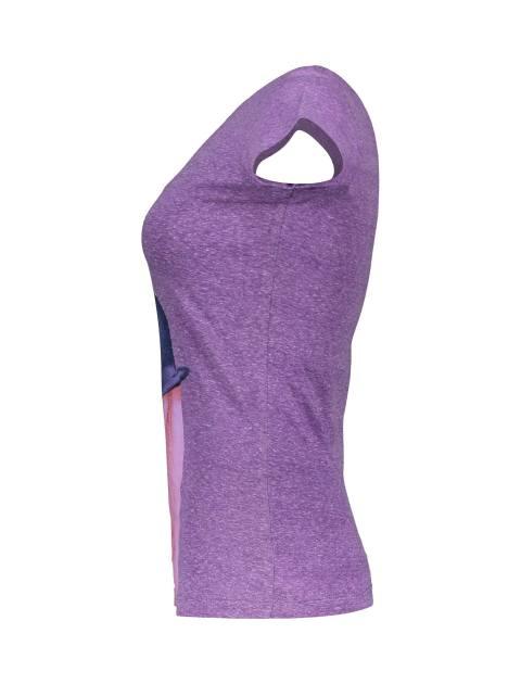 تی شرت یقه گرد زنانه - بنفش - 3