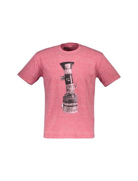 تی شرت یقه گرد مردانه - قرمز - 1