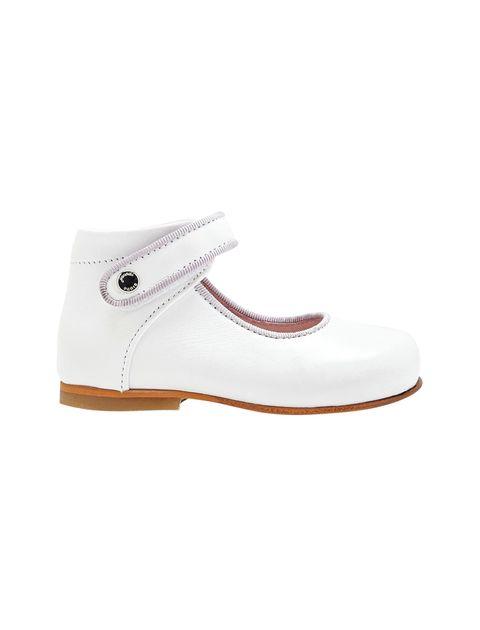 کفش چرم تخت دخترانه Banelle - سفيد - 1