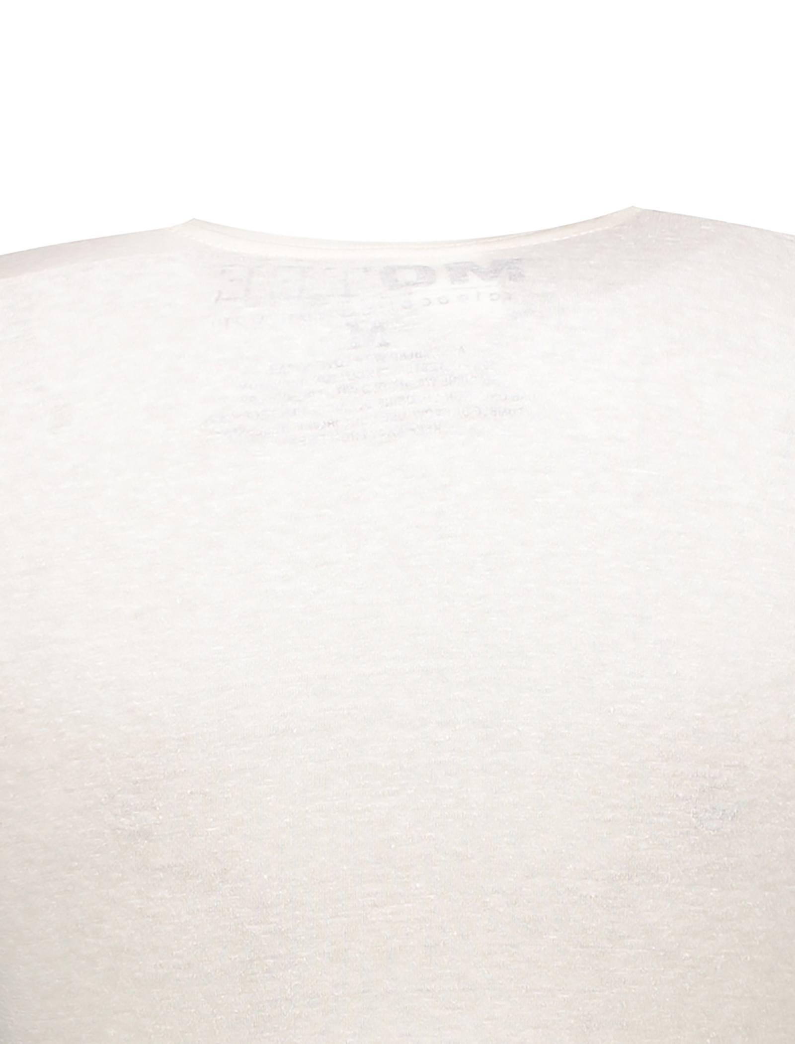 تی شرت یقه گرد زنانه - متی - سفيد - 4