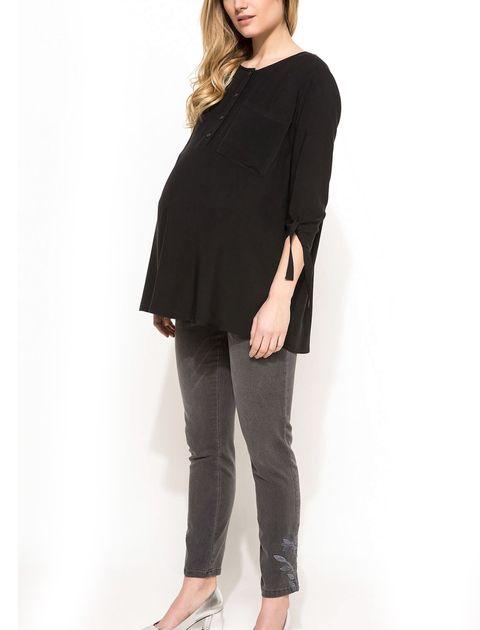 شلوار جین جذب بارداری - طوسي - 2