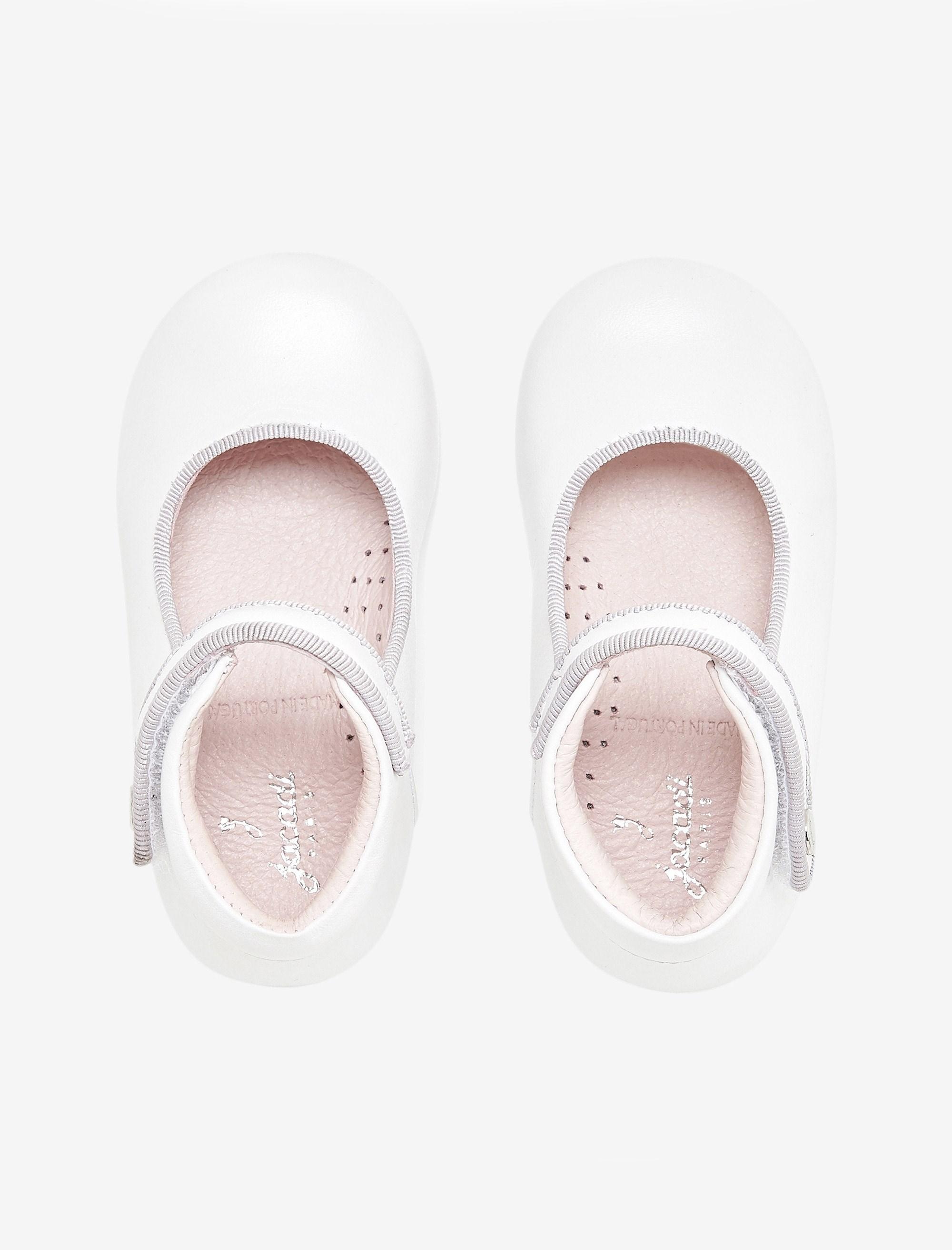 کفش چرم تخت دخترانه Banelle - سفيد - 2