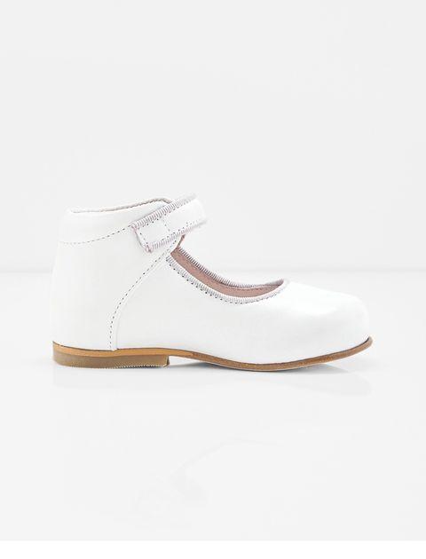 کفش چرم تخت دخترانه Banelle - سفيد - 4