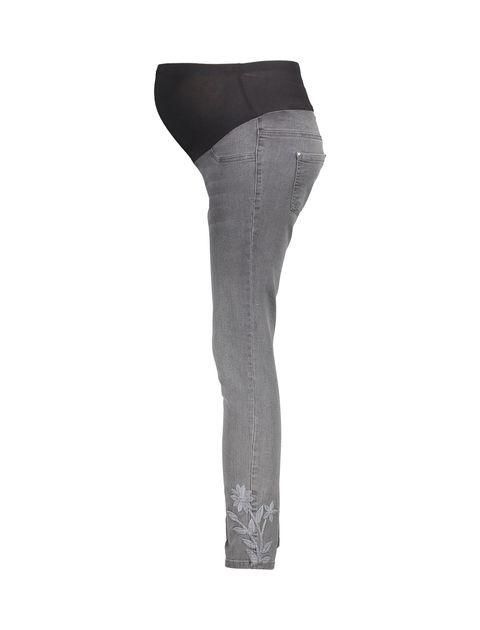 شلوار جین جذب بارداری - طوسي - 5