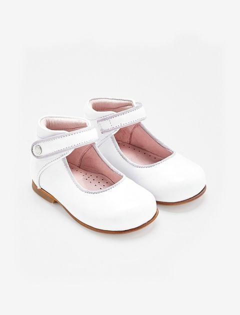 کفش چرم تخت دخترانه Banelle - سفيد - 5
