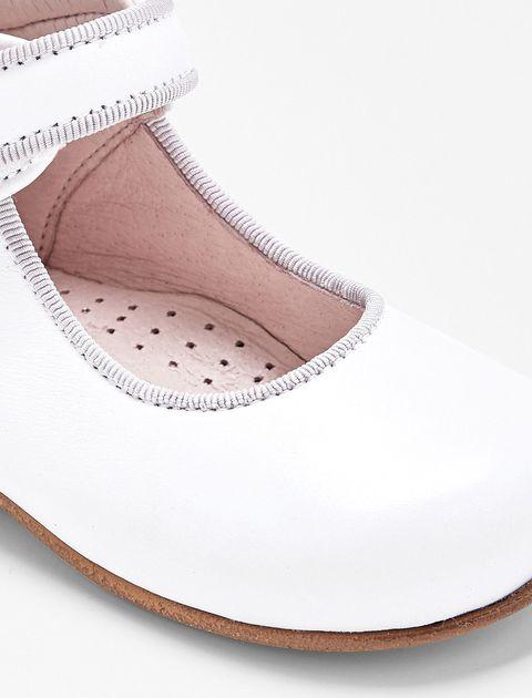 کفش چرم تخت دخترانه Banelle - سفيد - 7