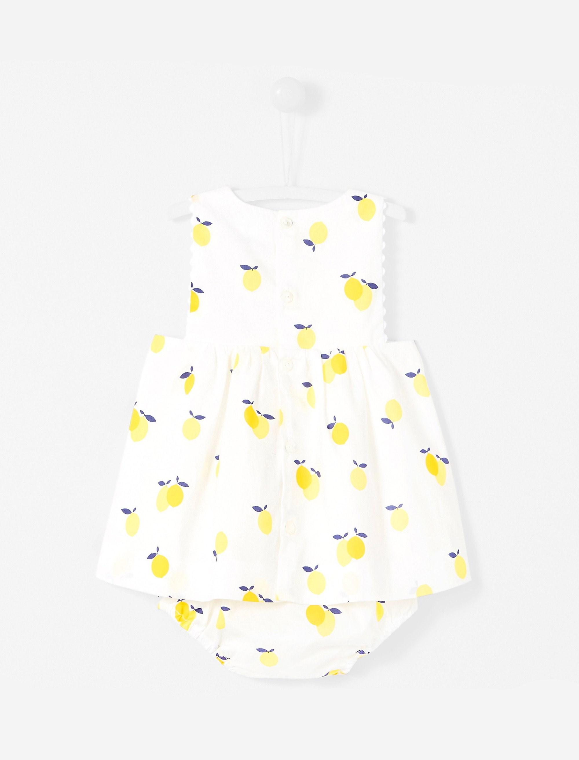 پیراهن نخی آستین حلقه ای نوزادی دخترانه Lizetta - جاکادی
