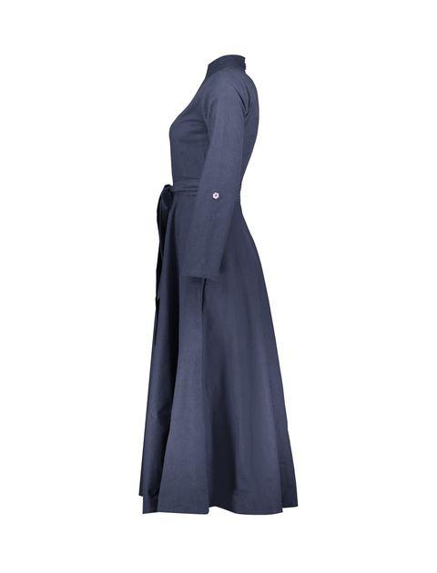 مانتو بلند زنانه - عاطفه نادری - سرمه اي - 3