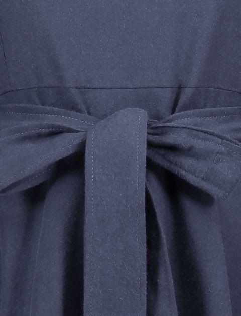 مانتو بلند زنانه - عاطفه نادری - سرمه اي - 4