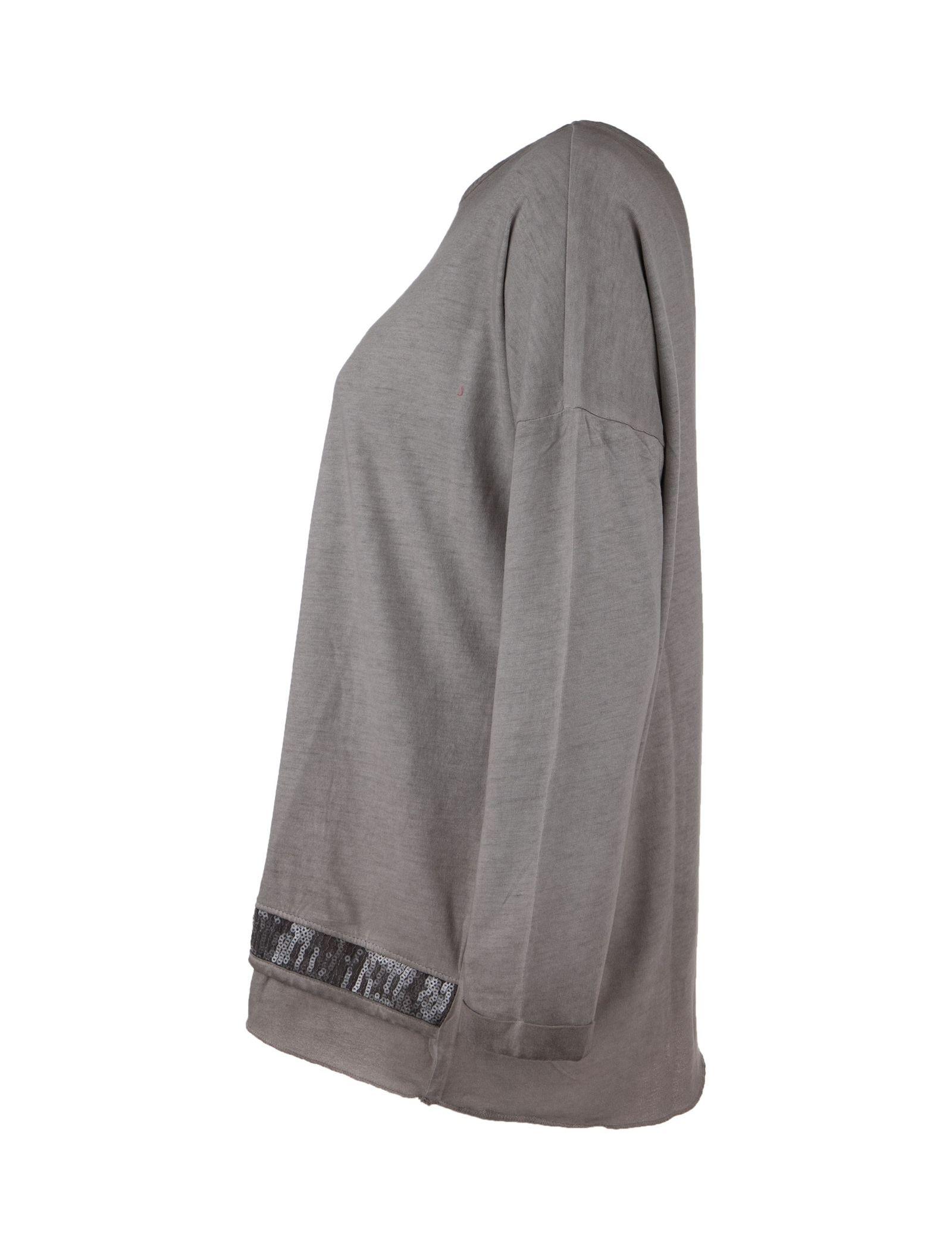 تی شرت نخی یقه گرد زنانه - یوپیم - بژ - 3