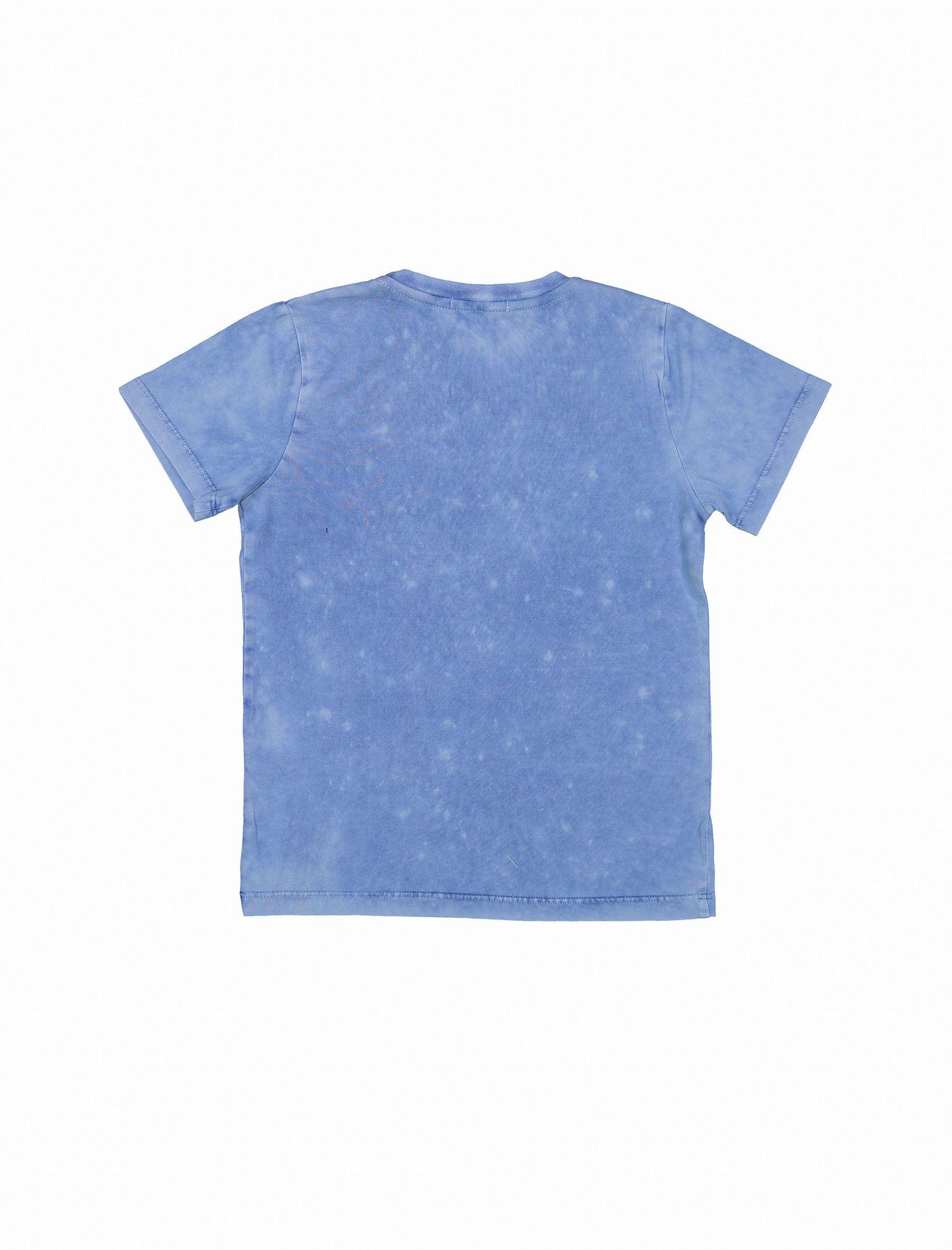 تی شرت و شلوارک نخی پسرانه - پیانو - آبي - 3