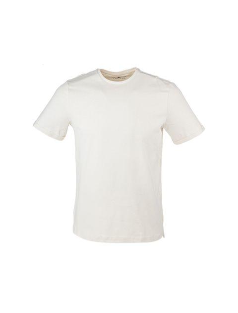 تی شرت نخی یقه گرد مردانه - یوپیم - کرم - 1