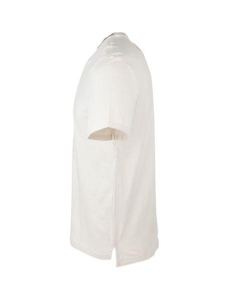 تی شرت نخی یقه گرد مردانه - کرم - 2