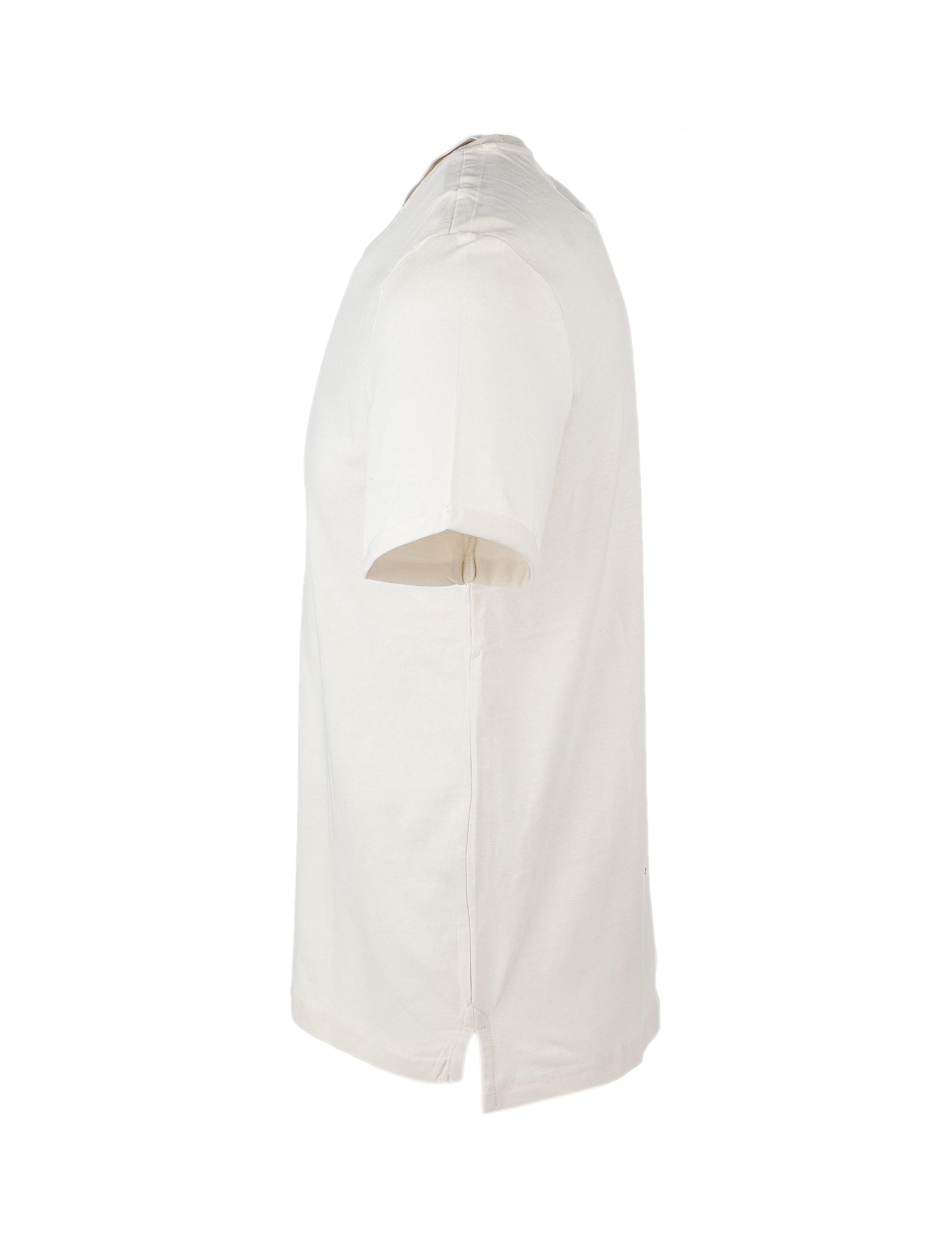 تی شرت نخی یقه گرد مردانه - یوپیم - کرم - 2