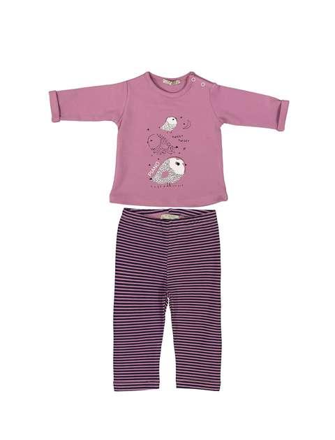 تی شرت و شلوار نوزادی دخترانه - پیانو