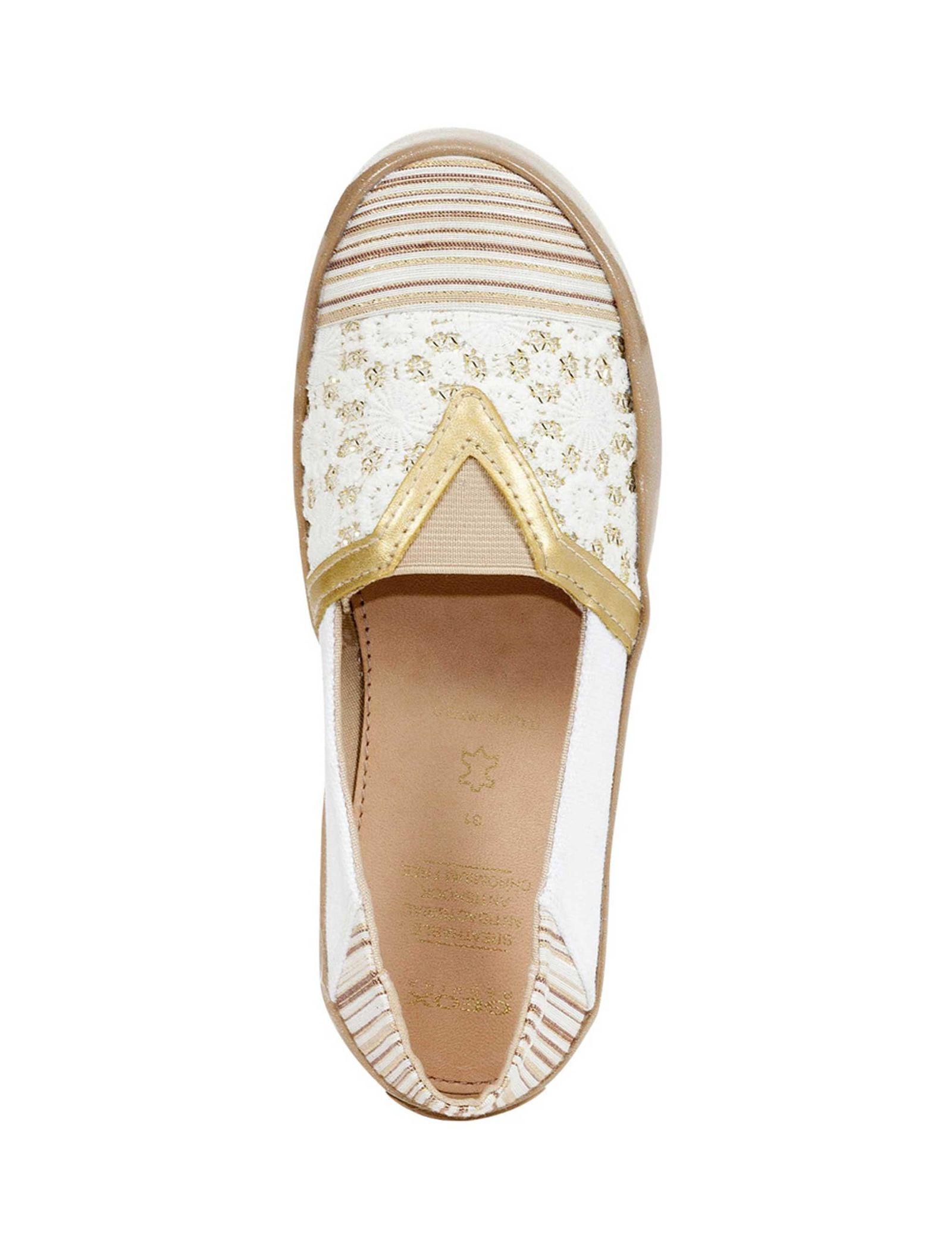 کفش تخت دخترانه JR KILWI - جی اوکس - طلايي - 4