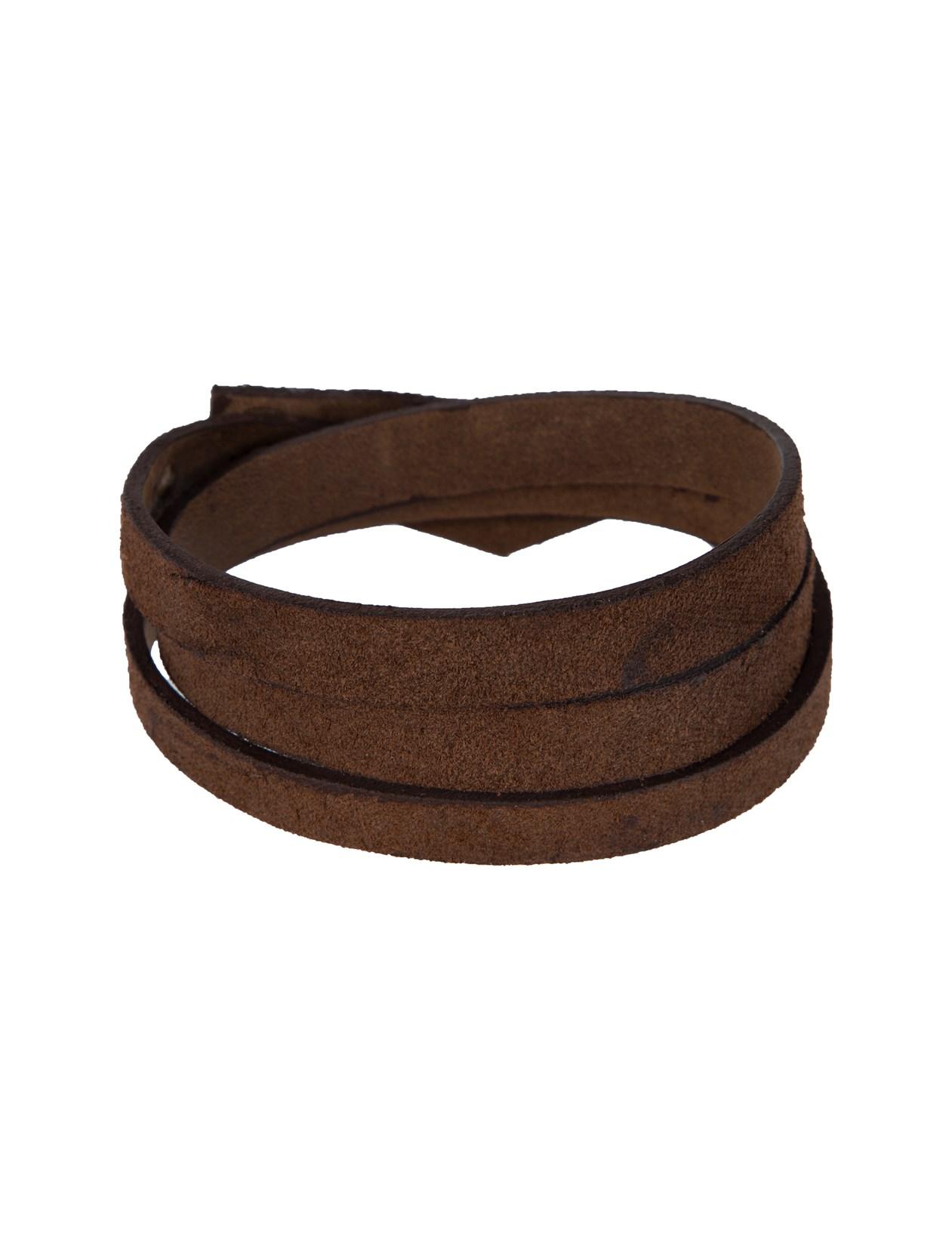 دستبند چرم بزرگسال - چرم لانکا تک سایز - قهوه اي - 1