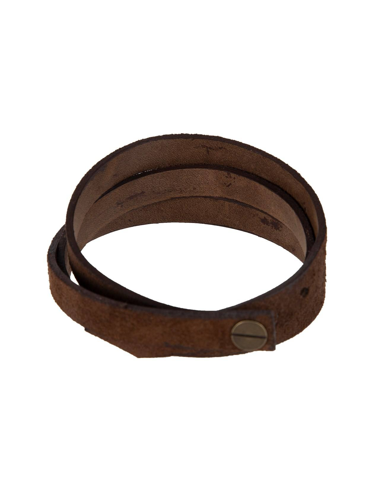 دستبند چرم بزرگسال - چرم لانکا تک سایز - قهوه اي - 2