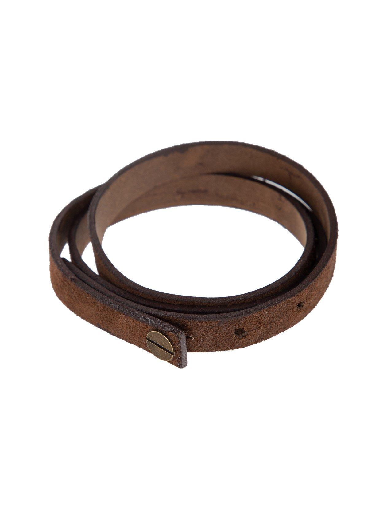 دستبند چرم بزرگسال - چرم لانکا تک سایز - قهوه اي - 4