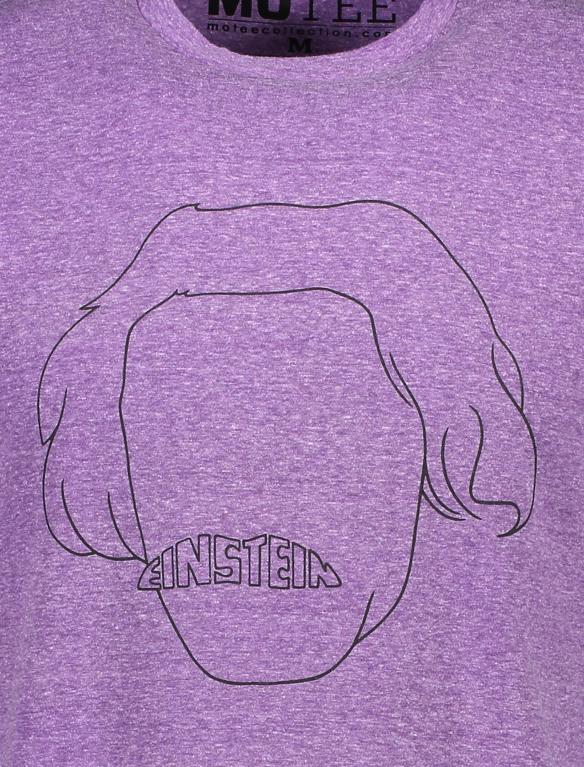 تی شرت یقه گرد مردانه - متی - بنفش - 5