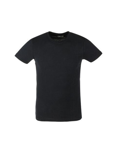 تی شرت نخی یقه گرد مردانه - یوپیم - مشکي - 1