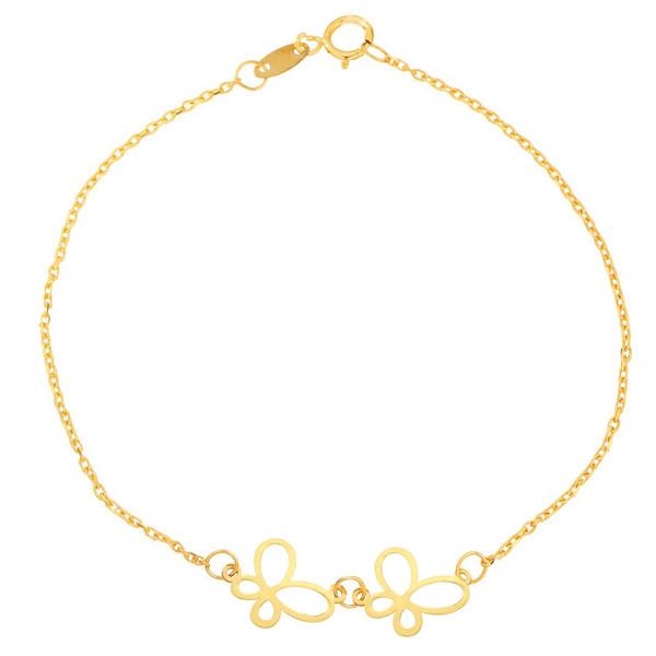 دستبند طلا 18 عیار شانا مدل B-SG147