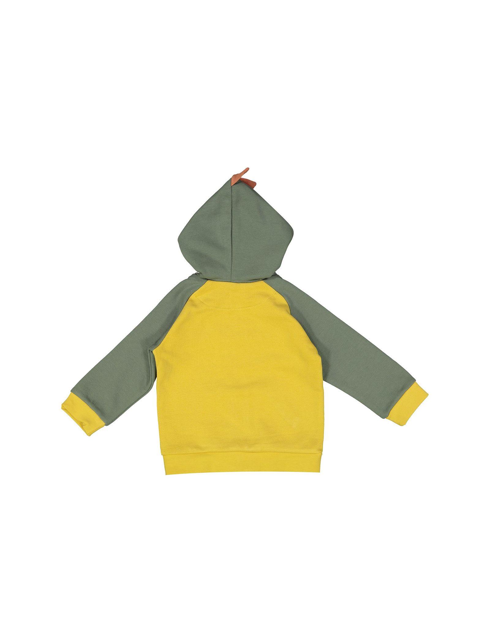 هودی و شلوار نخی نوزادی پسرانه - پیانو - زرد - 3
