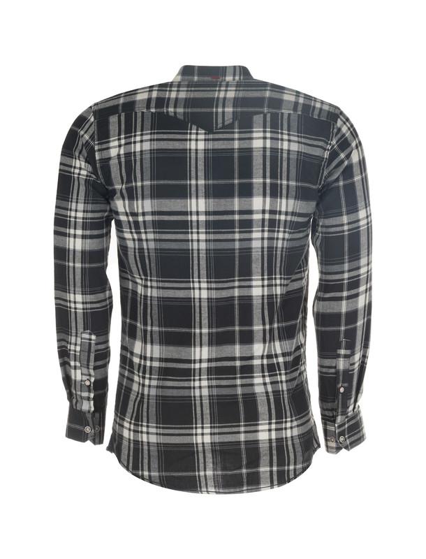 پیراهن نخی آستین بلند مردانه - کروم