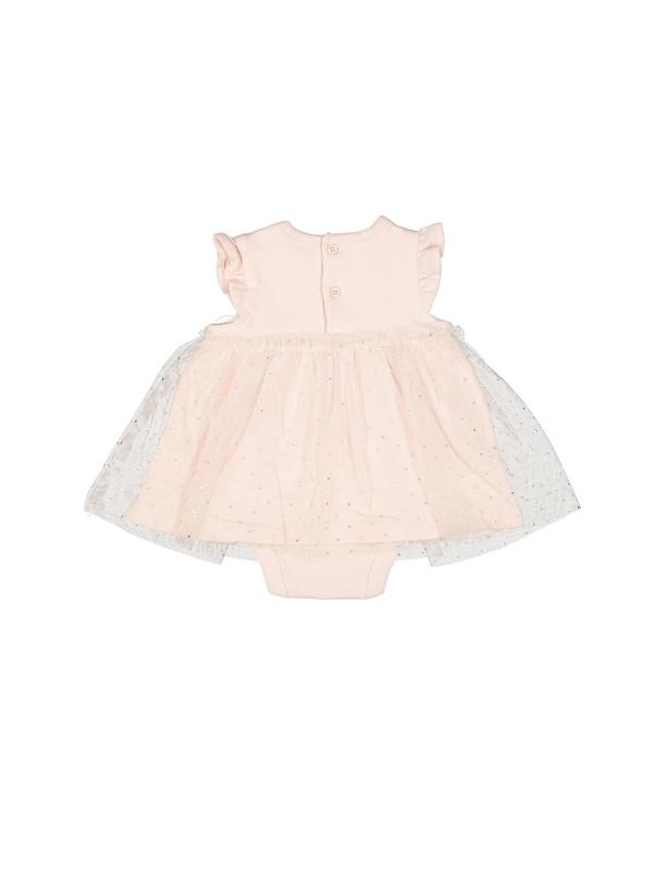 پیراهن نخی بدون آستین نوزادی دخترانه