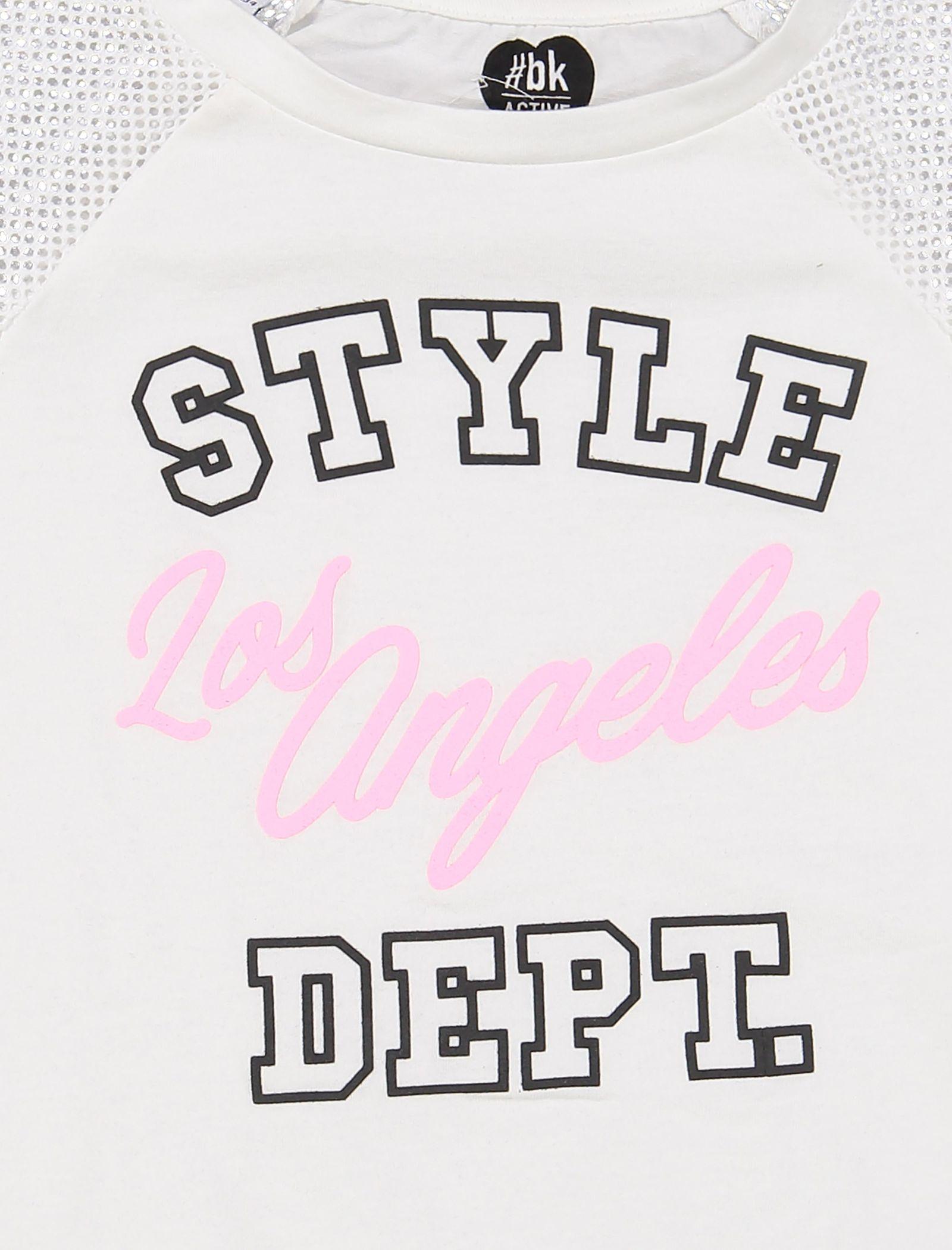 تی شرت و شلوار دخترانه - بلوکیدز - سفيد/مشکي - 4