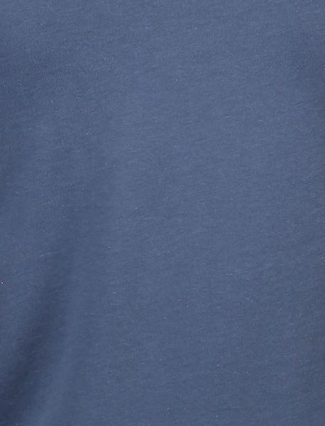 تی شرت نخی یقه گرد مردانه - آبي - 5