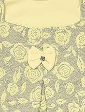 بلوز و شلوار نخی دخترانه مدل Flower - زرد - 9