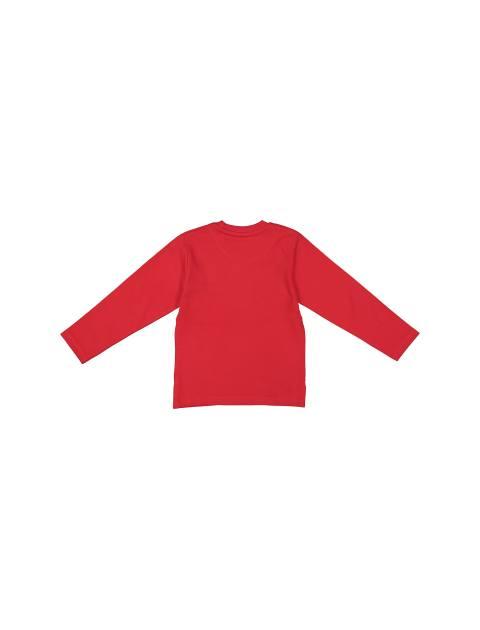 تی شرت و شلوار نخی پسرانه - قرمز - 3