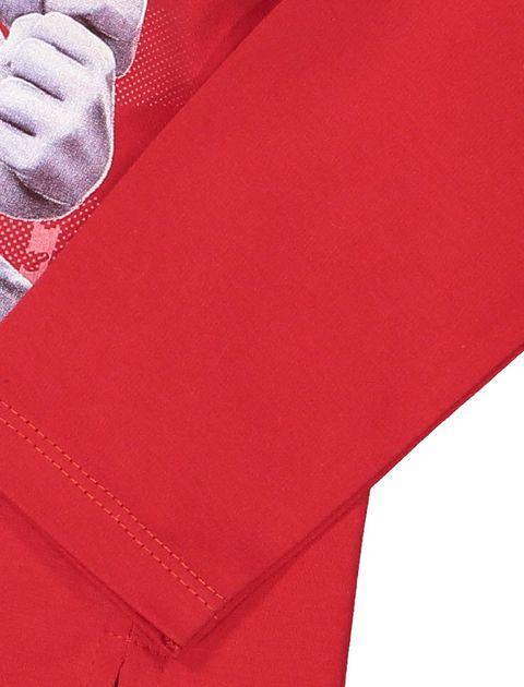 تی شرت و شلوار نخی پسرانه - قرمز - 4