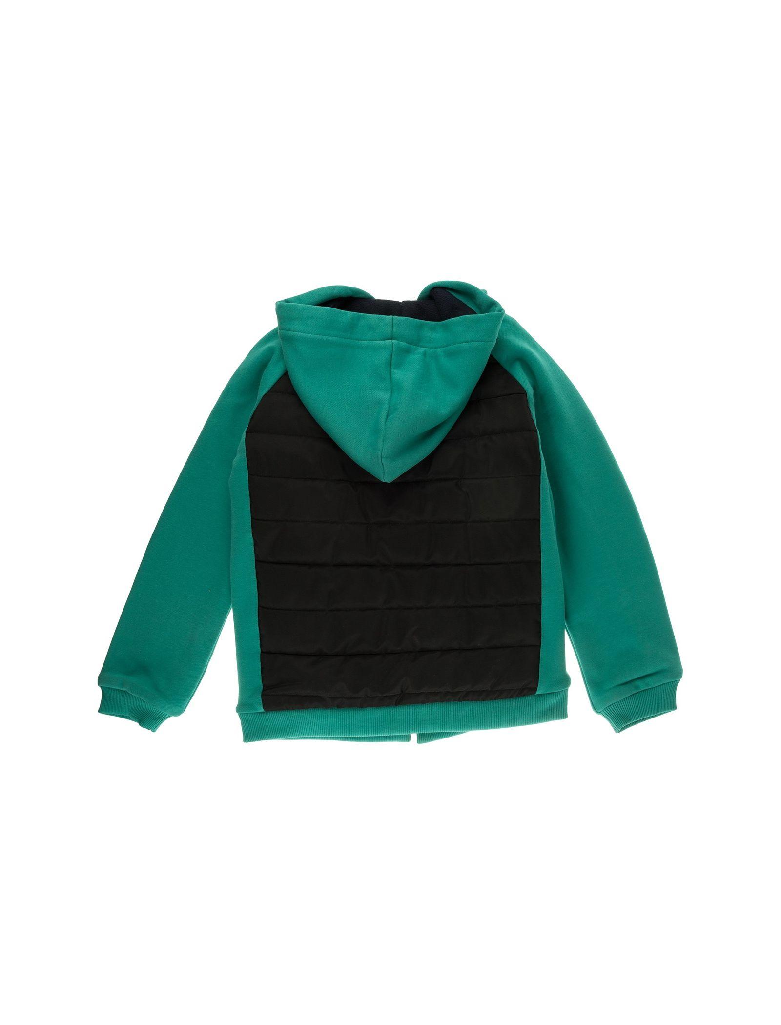 کاپشن نخی کلاه دار دخترانه - پیانو - سبز - 2