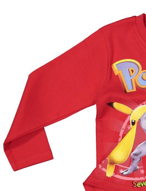 تی شرت و شلوار نخی پسرانه - قرمز - 5