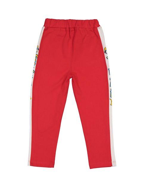 تی شرت و شلوار نخی پسرانه - قرمز - 7
