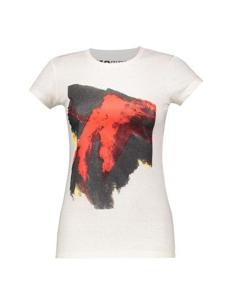 تی شرت یقه گرد زنانه - ُسفيد - 1