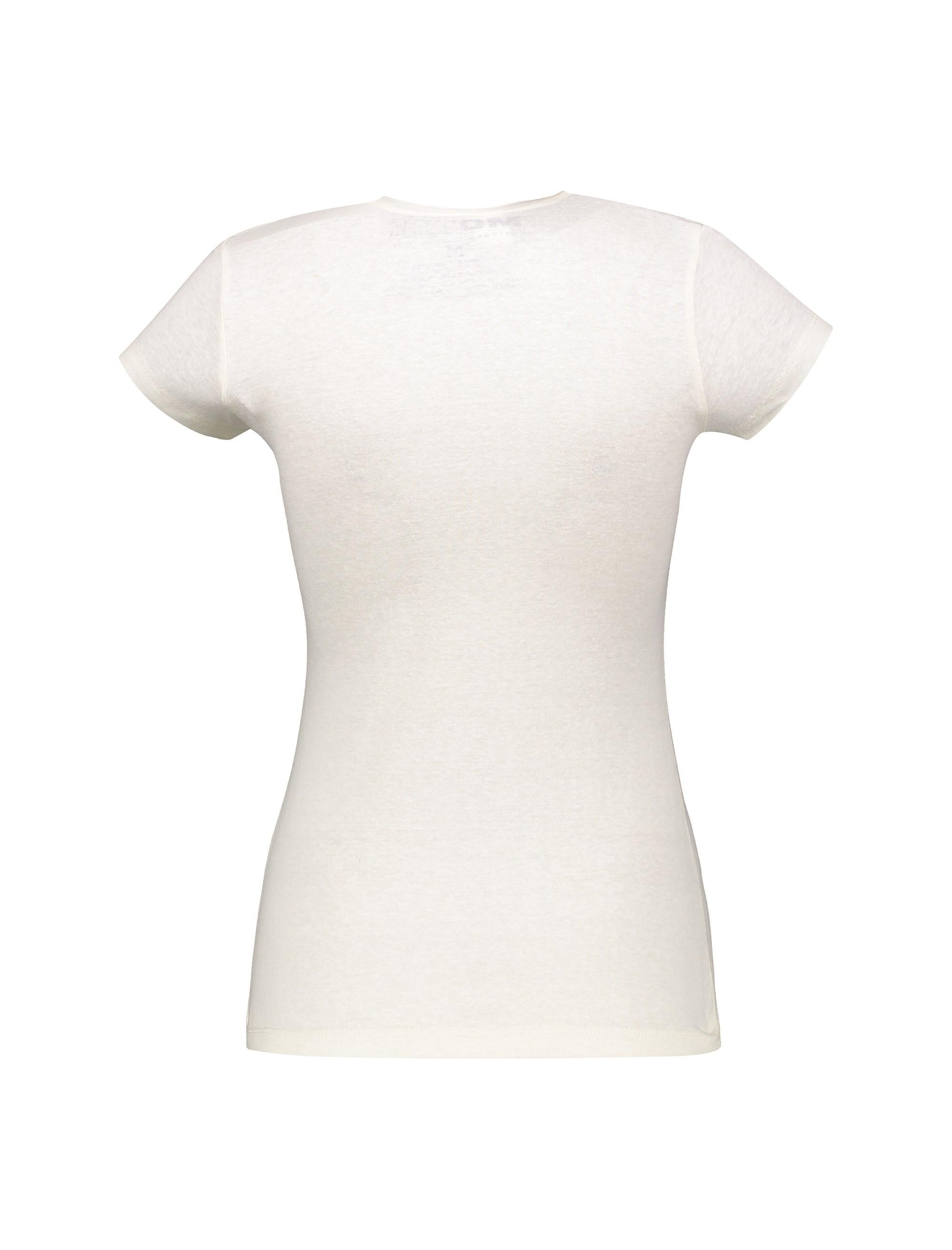 تی شرت یقه گرد زنانه - متی - ُسفيد - 2