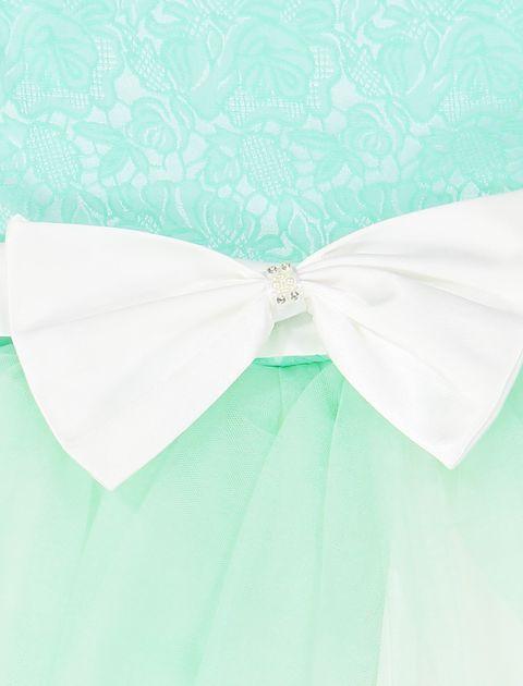 پیراهن مهمانی دخترانه - سبز - 3