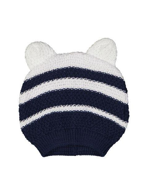 کلاه بافتنی نوزادی - ایدکس - سرمه اي - 1