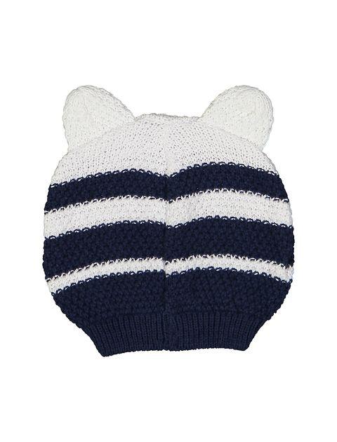کلاه بافتنی نوزادی - ایدکس - سرمه اي - 2