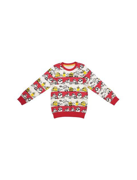 تی شرت نخی یقه گرد پسرانه - سون پون - قرمز - 1