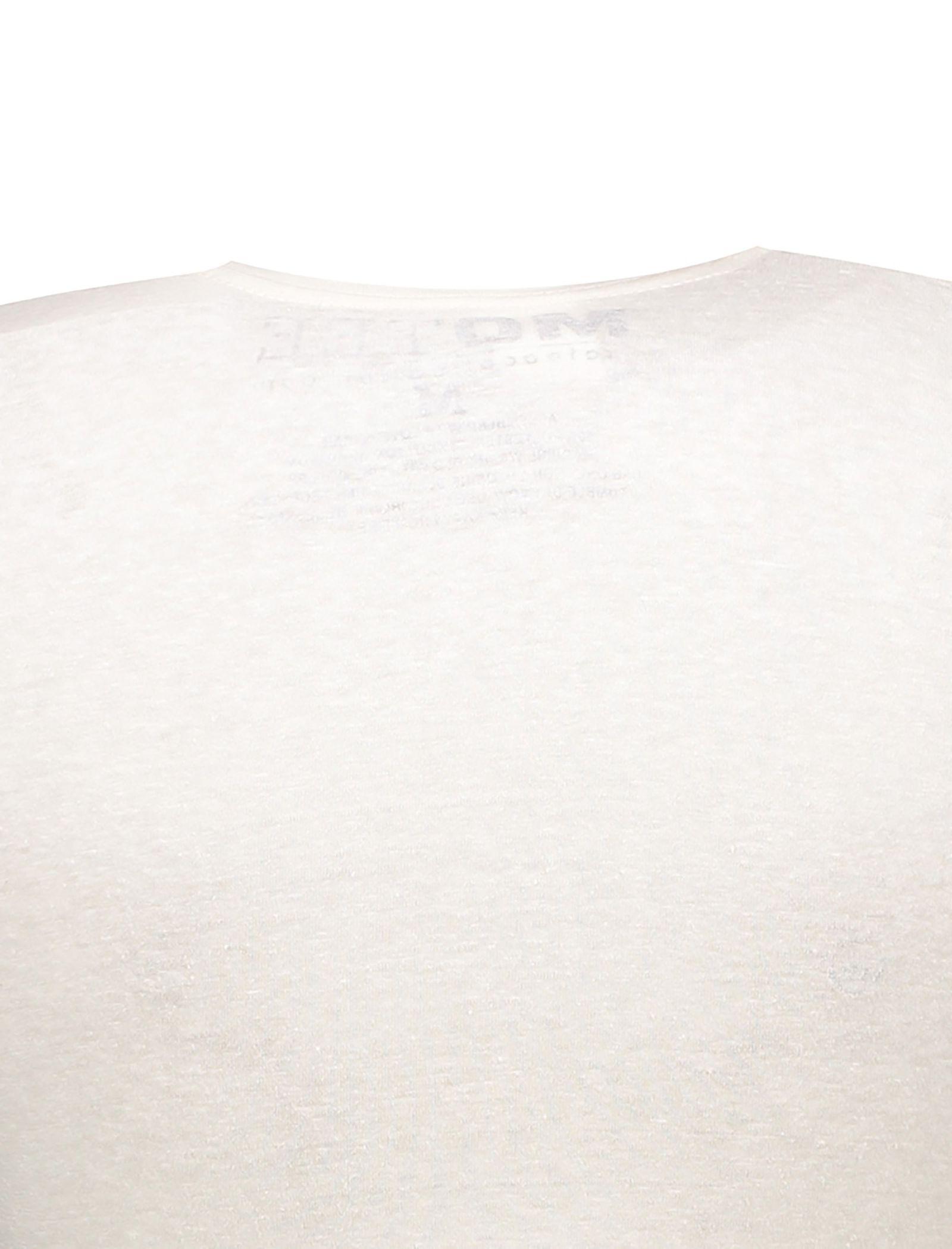 تی شرت یقه گرد زنانه - متی - ُسفيد - 4
