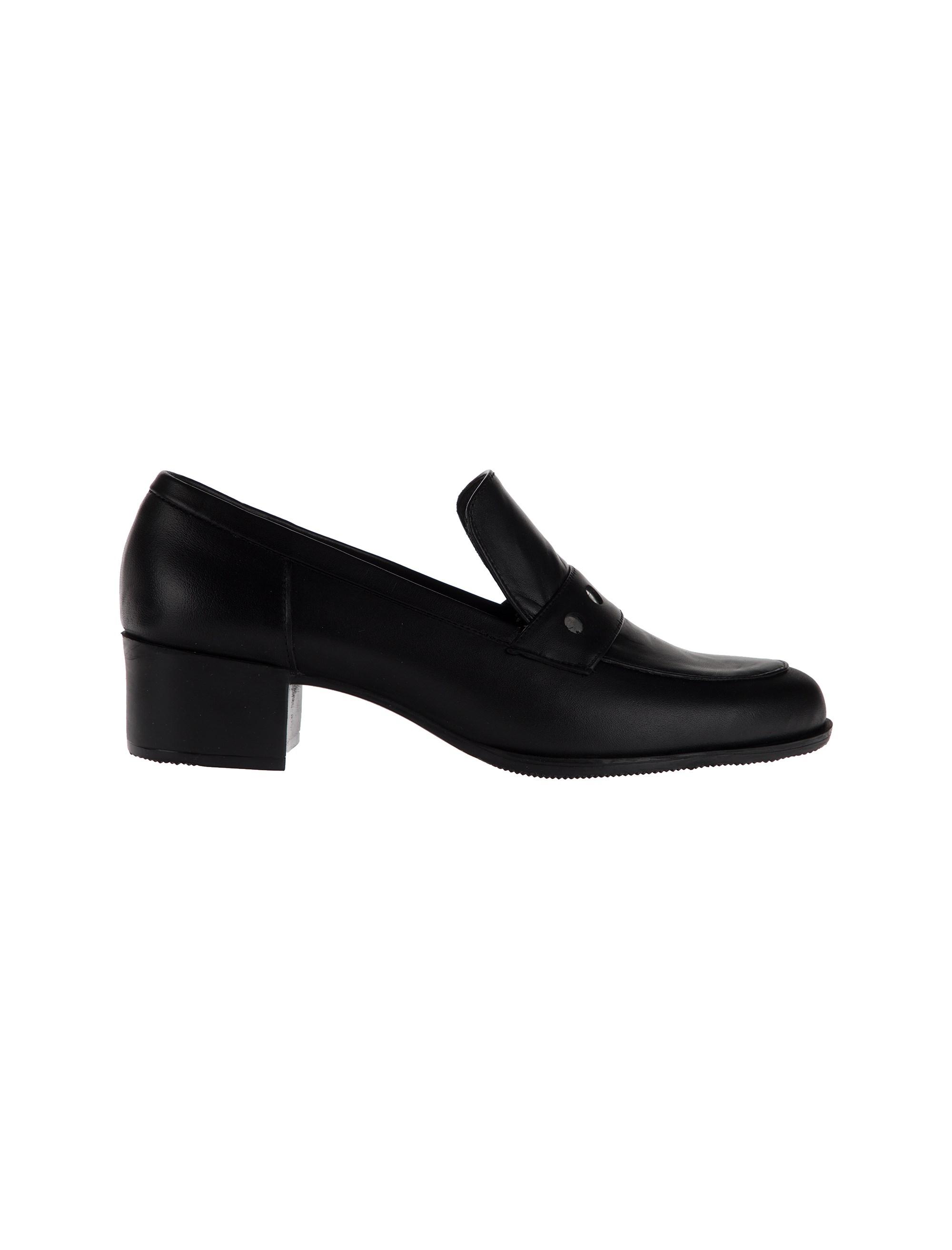 کفش چرم پاشنه دار زنانه marva