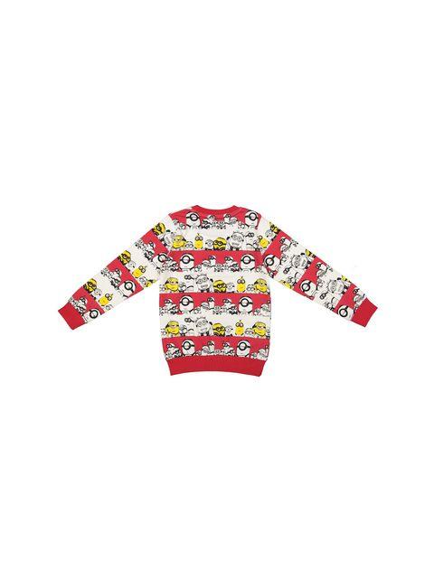 تی شرت نخی یقه گرد پسرانه - سون پون - قرمز - 2