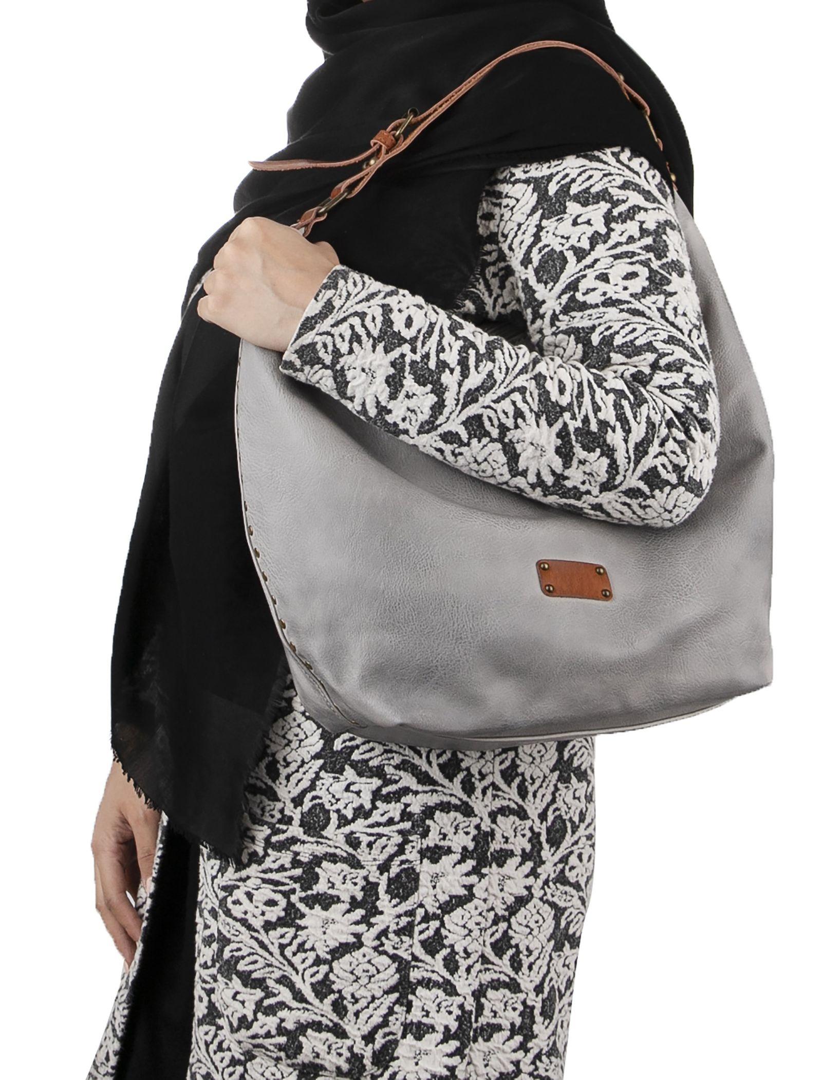 کیف دوشی روزمره زنانه - دادلین تک سایز - طوسي - 2