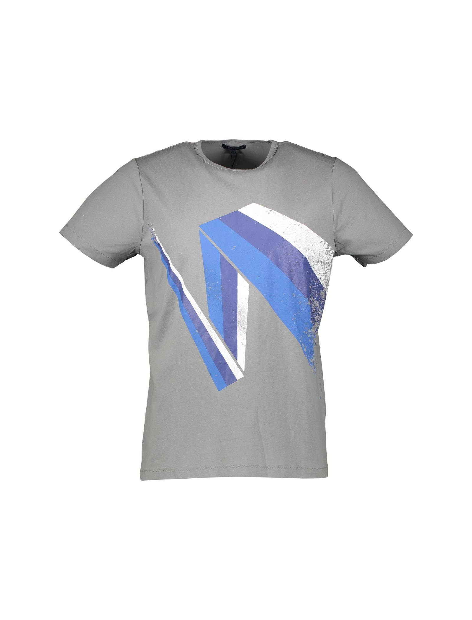 تی شرت نخی یقه گرد مردانه - یوپیم - طوسي - 1