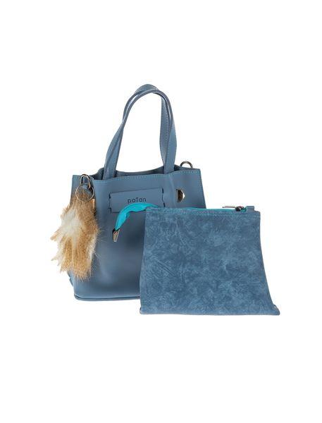 کیف دستی روزمره زنانه - آبي - 1